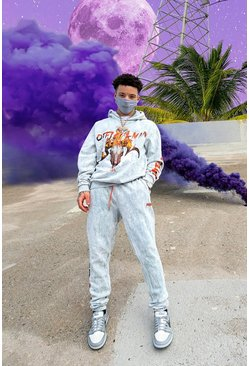 Official MAN Limited Edition Acid Wash Tracksuit