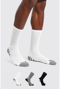 Multi 3 Pack MAN Dash Activewear Sport Socks