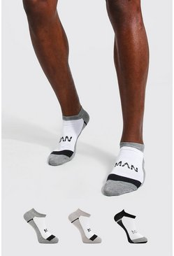 Multi 3 Pack Man Dash Activewear Sneaker Socks
