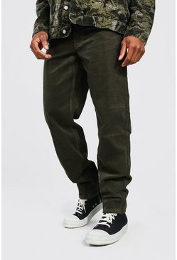 Khaki Relaxed Fit Corduroy Trouser