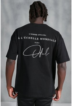 Oversized Official Embroidered T-Shirt, Black