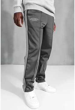 Charcoal Official Straight Leg Side Tape Tricot Jogger