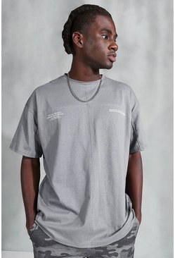 Charcoal Official Utility T-Shirt Oversized With Buckle
