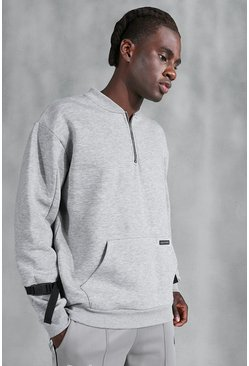 Grey Official Utility Half Zip Sweater