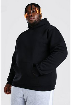 Black Plus Size Heavyweight Over The Head Hoodie