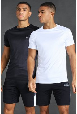 Multi MAN Active 2 Pack Raglan T-Shirt