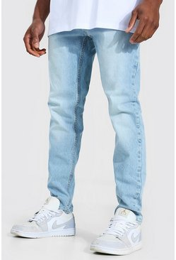 Ice blue Skinny Rigid Zip Pocket Jean