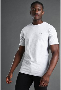 T-shirt de sport - MAN, Grey marl