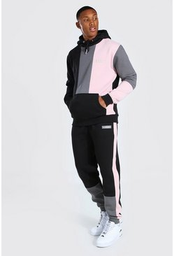 Black Man Official Colourblock Hooded Tracksuit