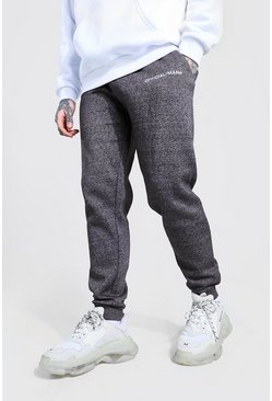 Charcoal Official MAN Skinny Fit Marl Jogger