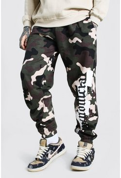 Loose Fit MAN Official Camo Joggers