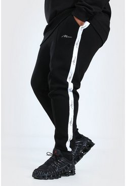 Black Plus Size MAN Skinny Jogger With Pintuck
