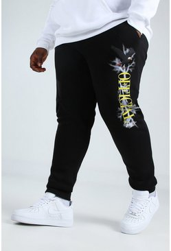 Black Plus Size Skinny Fit Official Eagle Jogger