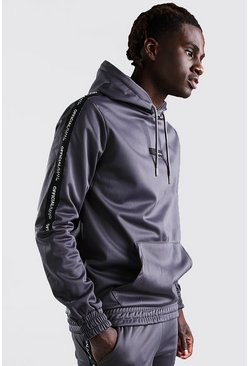 Slate MAN Official Tricot Hoodie With Sleeve Tape