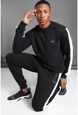 Black MAN Active Side Stripe Sweat