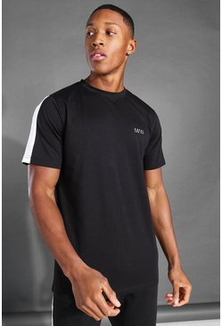 T-shirt à bande latérale - MAN Active, Black