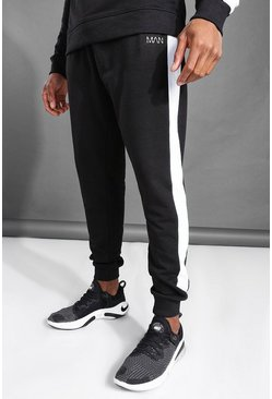 Black MAN Active Side Stripe Joggers