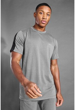 T-shirt à bande latérale - MAN Active, Charcoal