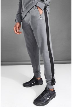 Charcoal MAN Active Side Stripe Joggers