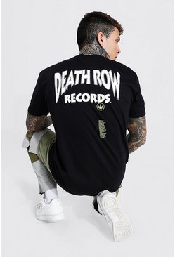 Black Oversized Death Row License T-Shirt