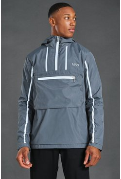 Grey MAN Active Reflective Over The Head Cagoule