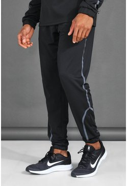 Black MAN Active Reflective Track Jogger