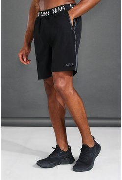 Black MAN Active Reflective  Shorts