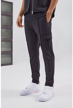 Black Tailored Cargo Pant