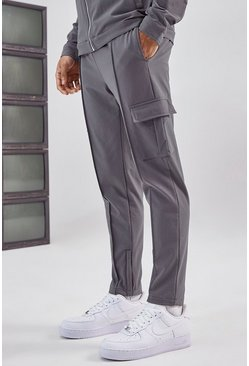 Charcoal Tailored Cargo Pant