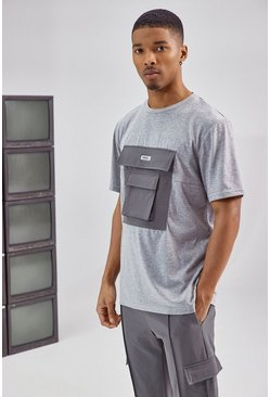 Charcoal Utility Pocket T Shirt