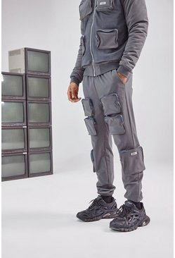 Charcoal 3D Pocket Cargo Pants