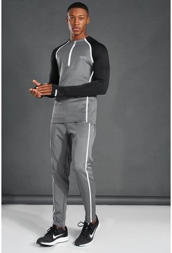 Grey Man Active Reflective Muscle Fit Tracksuit