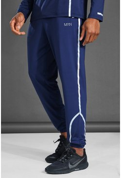 Navy MAN Active Reflective Tapered Jogger