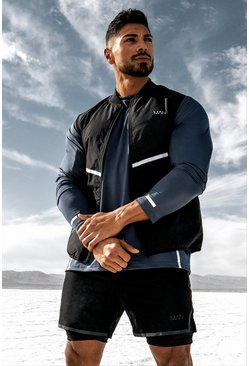 Black MAN Active Reflective Gilet