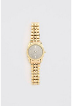Gold MAN Dash Grey Face Watch