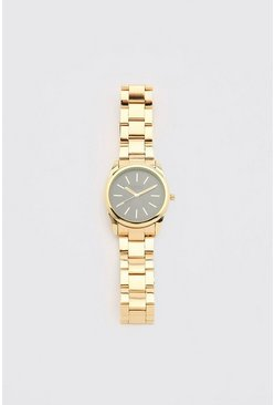 Gold MAN Dash Contrast Face Watch