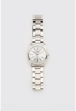 Silver MAN Dash Tonal Face Watch