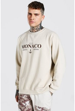 Sand Oversized Monaco Limited Edition Sweatshirt