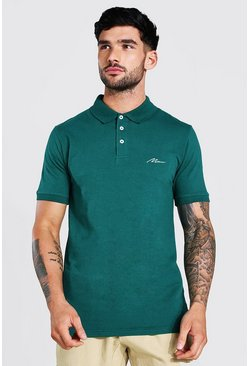 Forest Man Signature Muscle Fit Polo