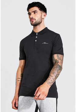 Slate Man Signature Muscle Fit Polo