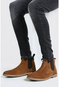Tan Suede Chelsea Boot