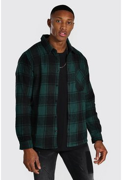 Khaki Long Sleeve Buffalo Brushed Flannel Shirt