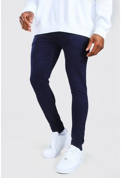 Navy Super Skinny Fit Basic Joggers