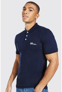 Polo Muscle Fit MAN original, Marine