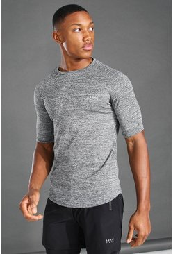Grey marl MAN Active Marl Poly Gym T-Shirt