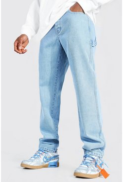 Ice blue Relaxed Fit Rigid Worker Jean
