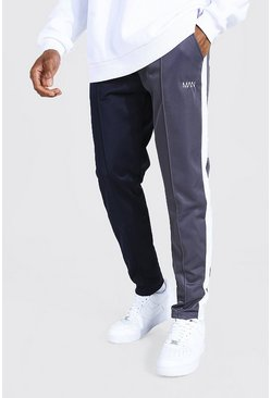Navy Original Man Spliced Slim Tricot Joggers