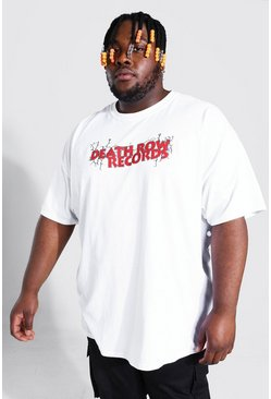 White Plus Size Death Row Records T-Shirt
