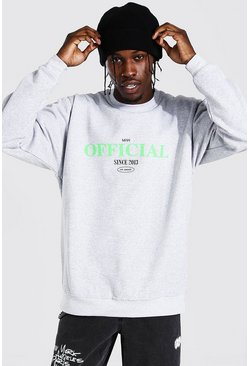 Light grey Oversized Official Print Sweatshirt
