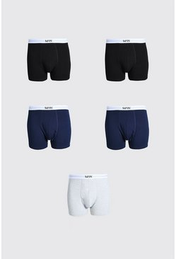 Grande taille - Lot de 5 boxers - MAN, Multi